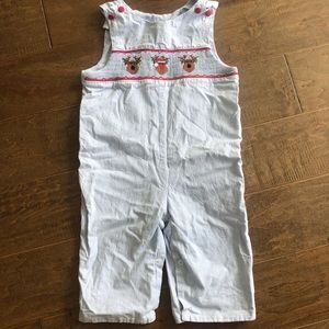 Boys smocked Christmas longall size 18 months